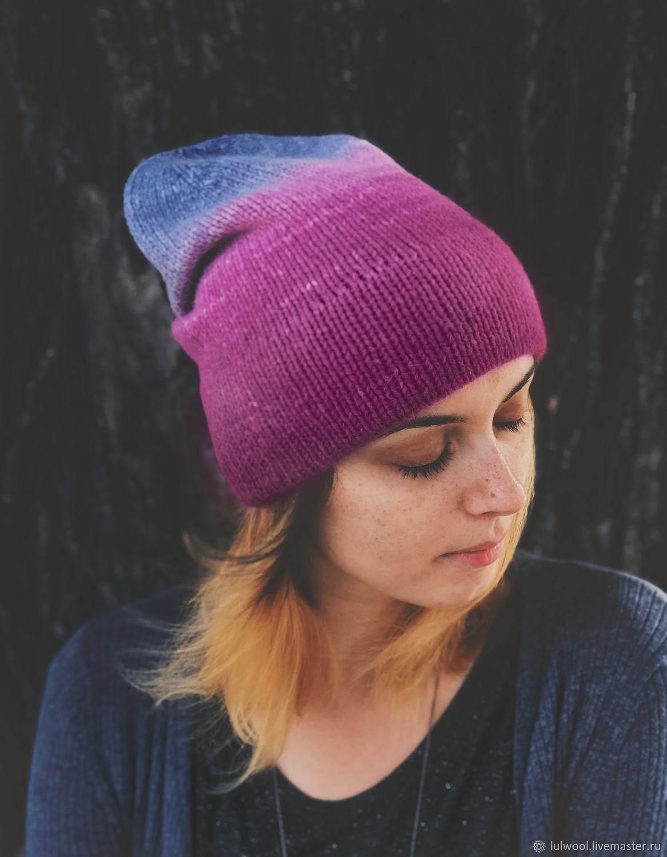 Мягкая шапка с градиентом, Шапки, Киев,  Фото №1