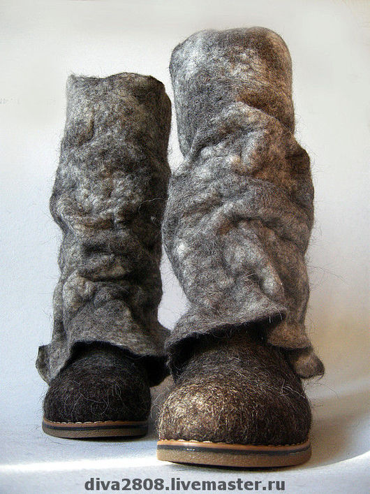 Handmade Shoes handmade. Livemaster - handmade. Buy Boots felted 'Wild ,but very friendly'.Boots, 100% wool