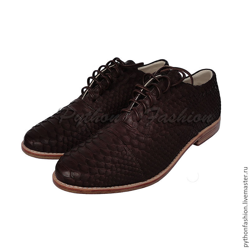 shoes from Python. Classic men shoes from Python. Mens brown leather lace up shoes Python. Stylish mens shoes from Python. Men's shoes handmade. Fashionable shoes from Python. shoes custom.