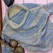 Одежда ручной работы. Ярмарка Мастеров - ручная работа Свитер из 100%шерсти с козьим пухом «Ютландия». Handmade.