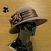 Аксессуары ручной работы. Ярмарка Мастеров - ручная работа Элегантная фетровая шляпа с широкими полями. Цвет капучино.. Handmade.