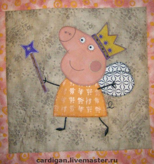 """Текстиль, ковры ручной работы. Ярмарка Мастеров - ручная работа. Купить """"Peppa Pig"""" (лоскутный комплект).. Handmade. Лоскутное покрывало"""