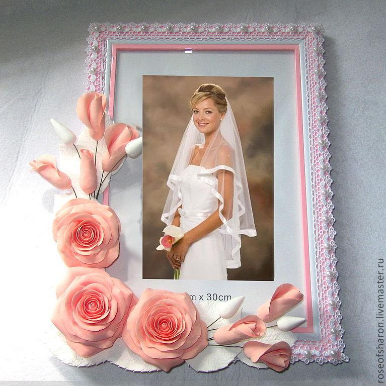 Декор свадебной рамки для фото своими руками 100