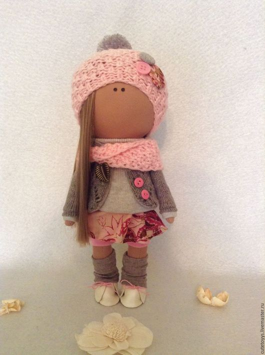 Куклы тыквоголовки ручной работы. Ярмарка Мастеров - ручная работа. Купить Интерьерная кукла. Handmade. Розовый, кукла, подарок дочке