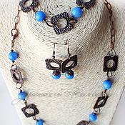 """Украшения ручной работы. Ярмарка Мастеров - ручная работа Комплект """"Copper blue"""". Handmade."""