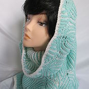 Аксессуары handmade. Livemaster - original item Snood tube cowl white - fresh brioche knit Snood. Handmade.