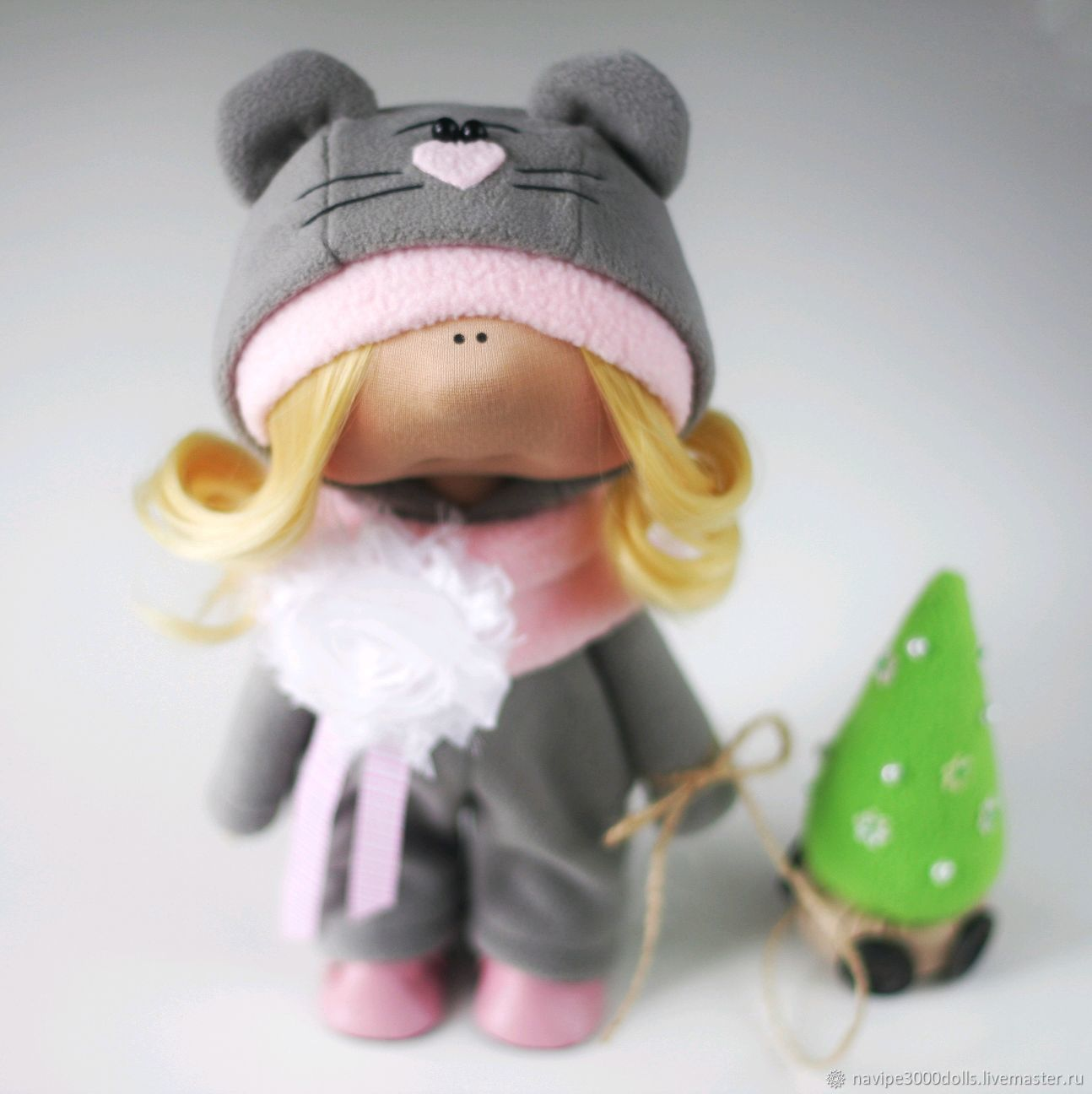 Кукла мышка символ года, Тыквоголовка, Москва,  Фото №1