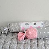 Для дома и интерьера ручной работы. Ярмарка Мастеров - ручная работа Бортики в кроватку - валик конфетка. Handmade.