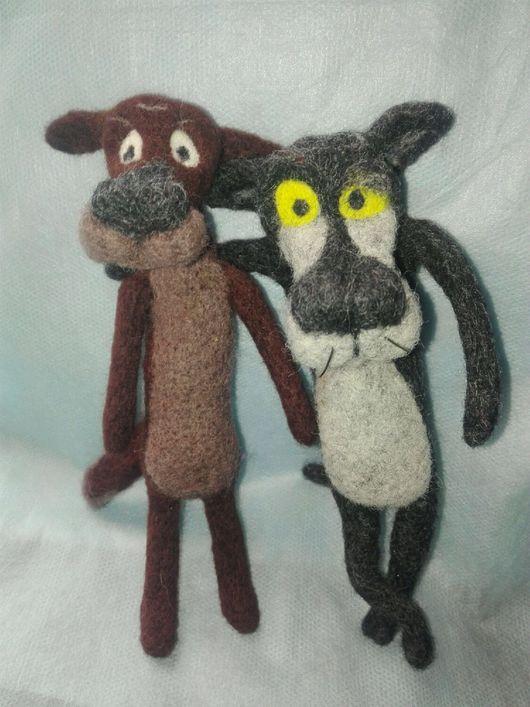 Сказочные персонажи ручной работы. Ярмарка Мастеров - ручная работа. Купить Волк и Пес.. Handmade. Темно-серый, войлочные игрушки