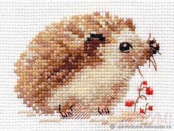 Наборы для вышивания с животными, рыбками и грибами, Наборы для вышивания, Санкт-Петербург,  Фото №1