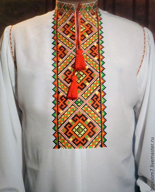 Для мужчин, ручной работы. Ярмарка Мастеров - ручная работа. Купить Рубашка вышитая мужская. Handmade. Вышивка на одежде