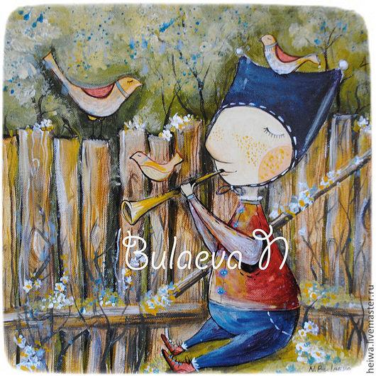 Фантазийные сюжеты ручной работы. Ярмарка Мастеров - ручная работа. Купить Весна. (репродукция). Handmade. Весна