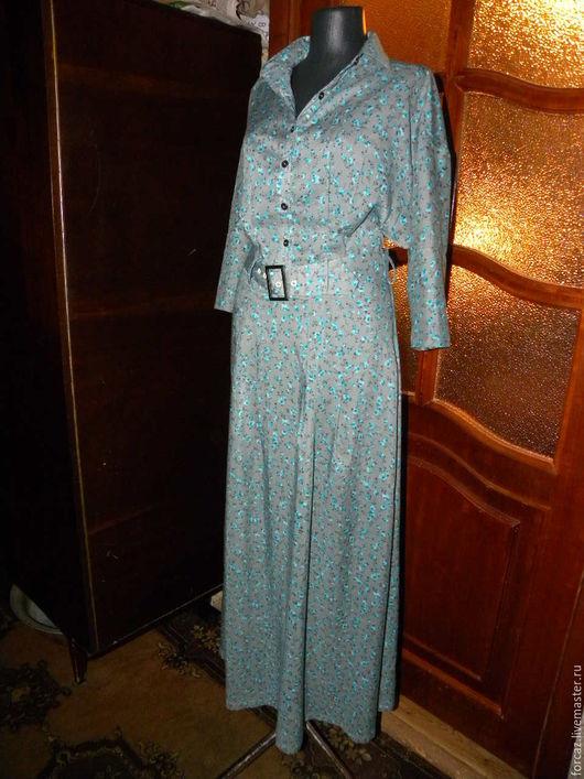 Платья ручной работы. Ярмарка Мастеров - ручная работа. Купить Платье в цветочек 2. Handmade. Комбинированный, платье ручной работы
