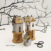 Для дома и интерьера ручной работы. Ярмарка Мастеров - ручная работа Let it Snow .. Домик-органайзер для ножниц.. Handmade.