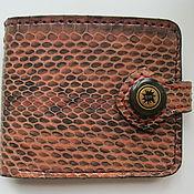 Сумки и аксессуары handmade. Livemaster - original item Men`s leather wallet, snake leather. Handmade.