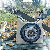 Сумки и аксессуары handmade. Livemaster - original item Leather handbag Mysterious circles. Handmade.
