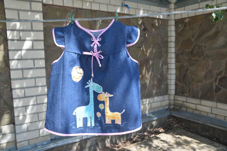 Джинсовое платье для девочки, Платье, Невинномысск,  Фото №1
