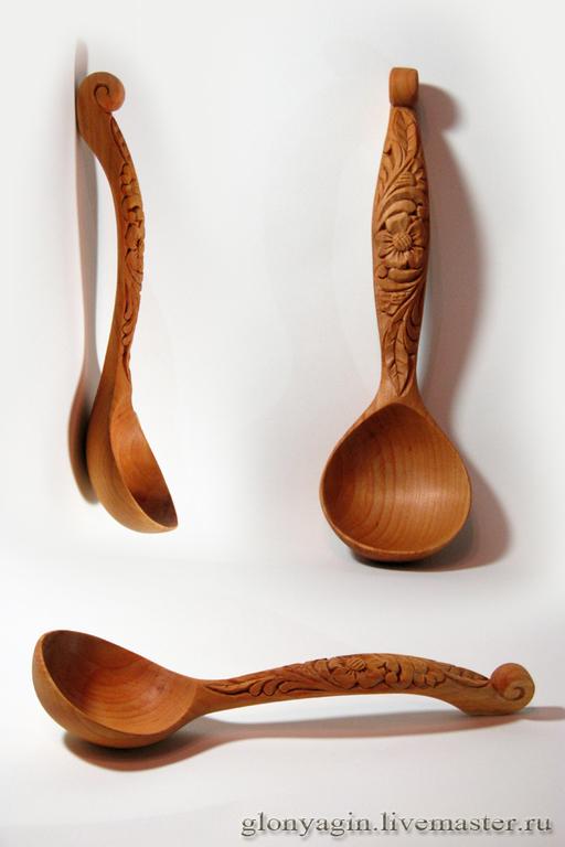 Кухня ручной работы. Ярмарка Мастеров - ручная работа. Купить Ложка деревянная  Цветочек. Handmade. Ложка, резная ложка