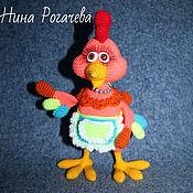 Куклы и игрушки handmade. Livemaster - original item Chicken Kira. Cock knitted. Chicken. Handmade.