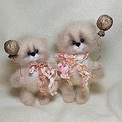 Мягкие игрушки ручной работы. Ярмарка Мастеров - ручная работа Воздушные шарики...  Теплые, пушистые Коты. Handmade.