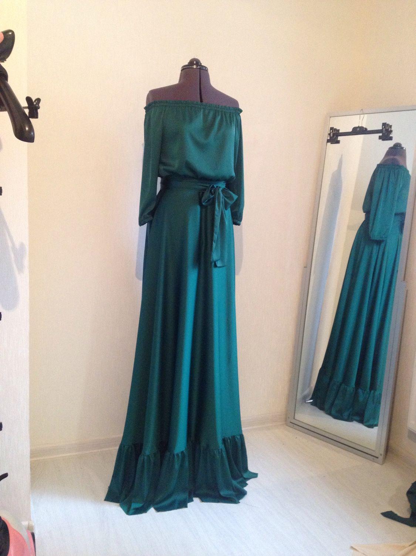 Платья в пол шелковые