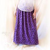 """Одежда ручной работы. Ярмарка Мастеров - ручная работа Юбка """" Лаванда """" из вискозного трикотажа,длинная,весенняя,летняя. Handmade."""