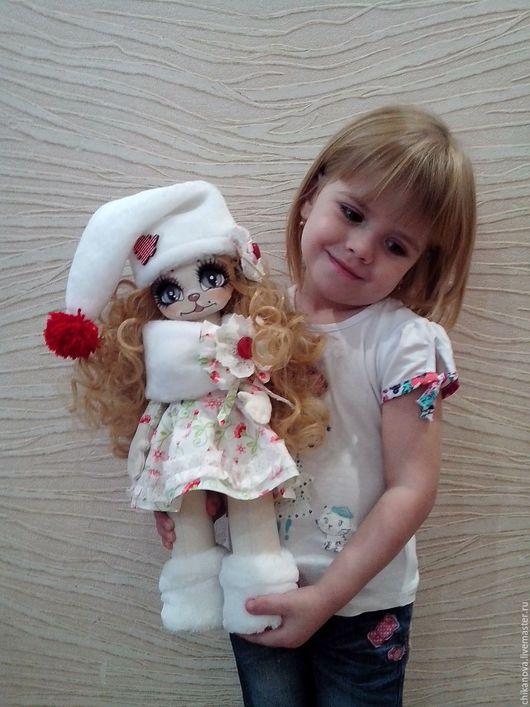 Коллекционные куклы ручной работы. Ярмарка Мастеров - ручная работа. Купить Кошечка Милена.. Handmade. Разноцветный, кукла в подарок