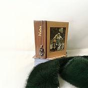 Аксессуары ручной работы. Ярмарка Мастеров - ручная работа Воротничок на платье, воротник из норки «Тёмно-зелёный». Handmade.
