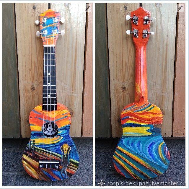 """Картины цветов ручной работы. Ярмарка Мастеров - ручная работа. Купить Укулеле """"Крик"""" (сопрано) гавайская гитара. Handmade. Лето"""