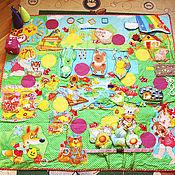 Куклы и игрушки ручной работы. Ярмарка Мастеров - ручная работа Развивающий коврик-игра для всей семьи. Handmade.