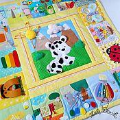 Куклы и игрушки handmade. Livemaster - original item Play Mat Large snow leopard. Handmade.