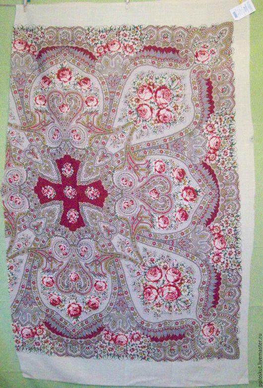 лоскут №2 1400 руб,100 см*150 на белой кайме,бледные розы
