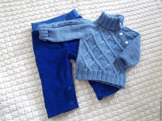 Одежда ручной работы. Ярмарка Мастеров - ручная работа. Купить Комплект Ультрамарин. Handmade. Тёмно-синий, комплект для мальчика, хлопок