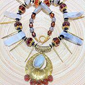 Украшения handmade. Livemaster - original item Necklace made of natural stones gold of the Incas.. Handmade.