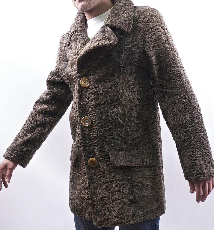 Мужская каракулевая жилетка фото