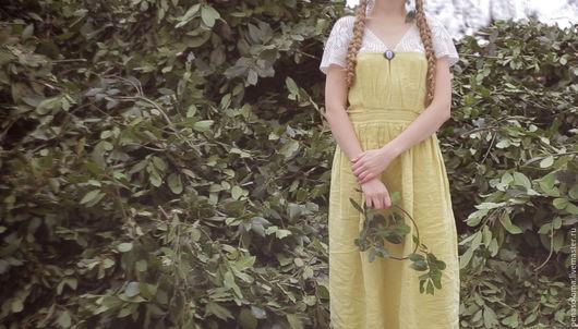 Платья ручной работы. Ярмарка Мастеров - ручная работа. Купить Фисташковое платье с кружевом. Handmade. Салатовый, магия