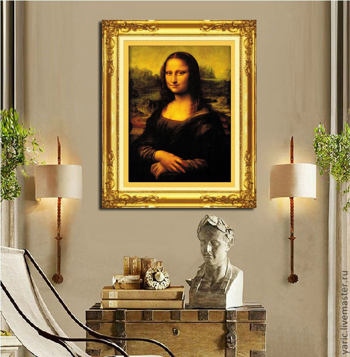 вышивки крестом Мона Лиза