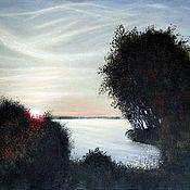 """Картины и панно ручной работы. Ярмарка Мастеров - ручная работа Картина """"Рассвет над озером"""". Handmade."""