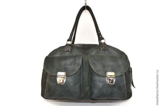 Мужские сумки ручной работы. Ярмарка Мастеров - ручная работа. Купить Кожаная сумка ручной работы № 030 virt. Handmade.