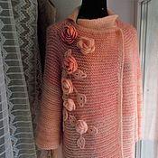 Одежда ручной работы. Ярмарка Мастеров - ручная работа пальто вязанное спицами. Handmade.