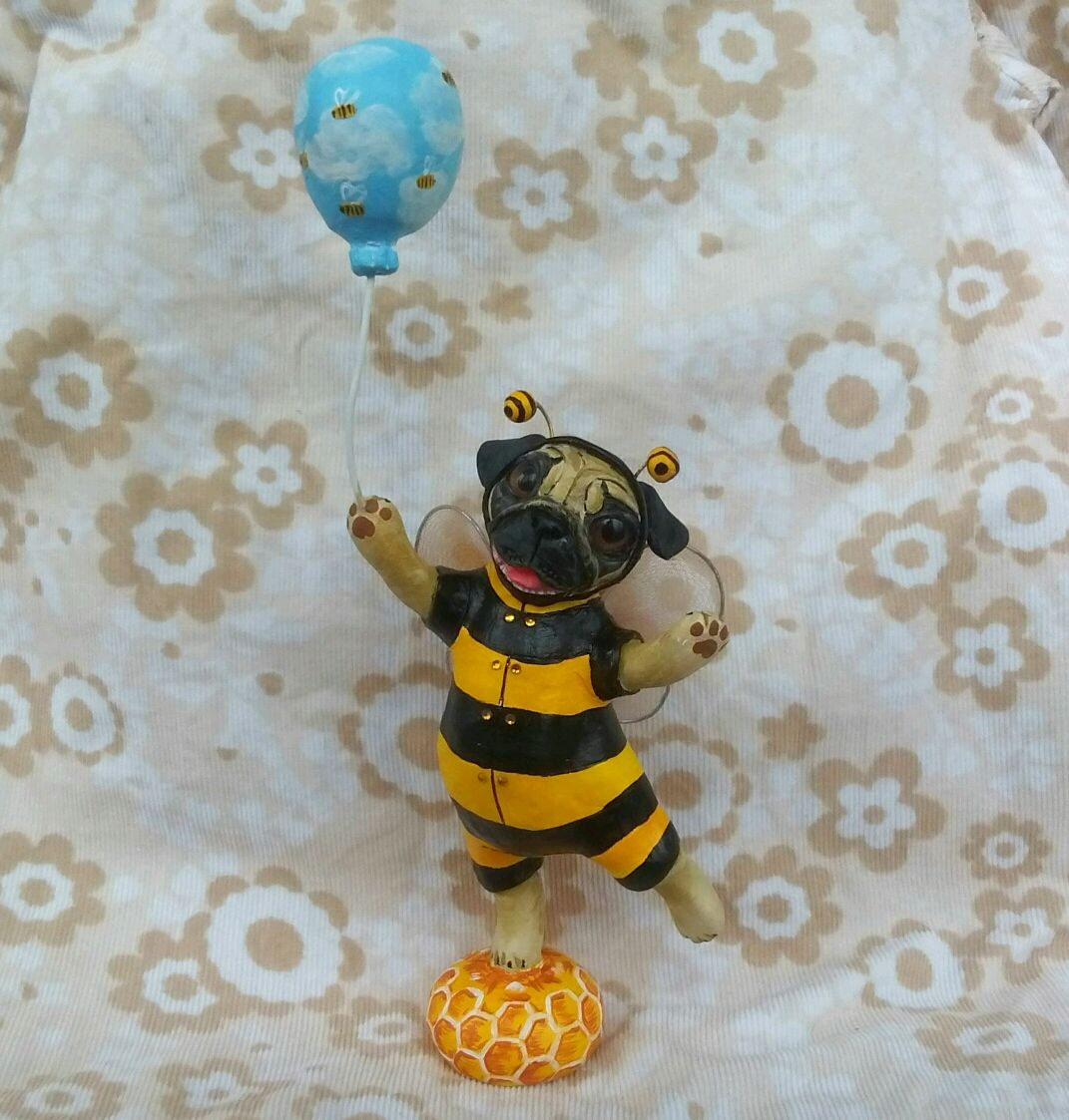 Мопс Пчёлка, Мягкие игрушки, Ковров,  Фото №1