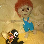 Куклы и игрушки handmade. Livemaster - original item Antoshka - red, freckled... and the crow. Handmade.