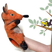 Куклы и игрушки handmade. Livemaster - original item Red Fox glove puppet, a toy for puppet theater, of bibabo. Handmade.