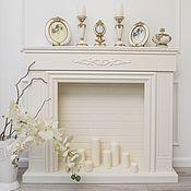 """Камины ручной работы. Ярмарка Мастеров - ручная работа Фальш камин """"Марсель"""" тёплый белый. Handmade."""