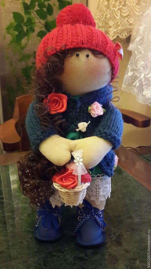 Коллекционные куклы ручной работы. Ярмарка Мастеров - ручная работа. Купить Дашенька. Handmade. Тёмно-синий