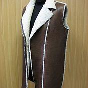 Одежда handmade. Livemaster - original item Vest of genuine sheepskin. Handmade.