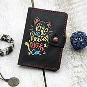 Канцелярские товары handmade. Livemaster - original item Cover for auto documents