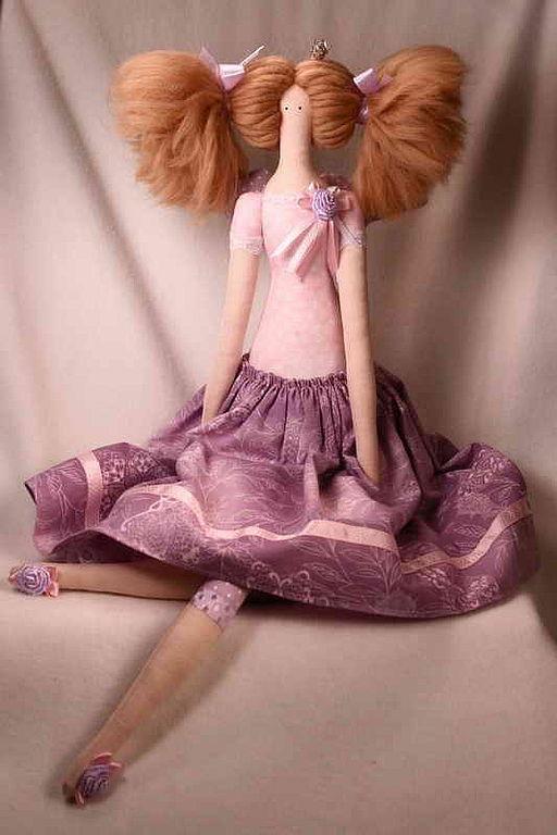 Куклы Тильды ручной работы. Ярмарка Мастеров - ручная работа. Купить Тильда Принцесса с хвостиками. Handmade. Тильда, текстильная кукла