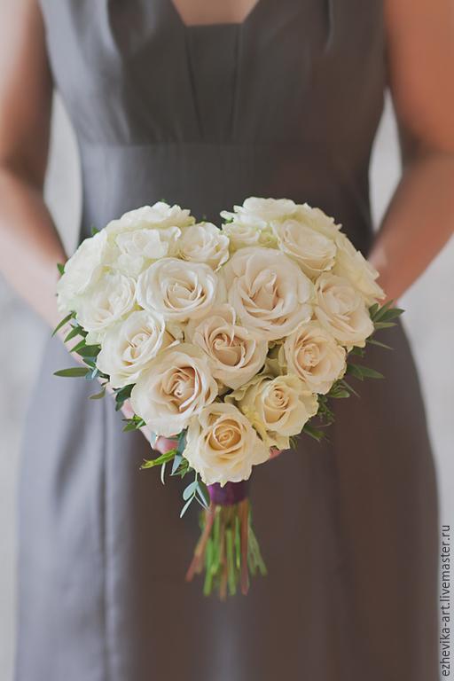 Для, букеты невесты в форме сердца