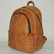 Сумки и аксессуары handmade. Livemaster - original item Backpack leather brown womens
